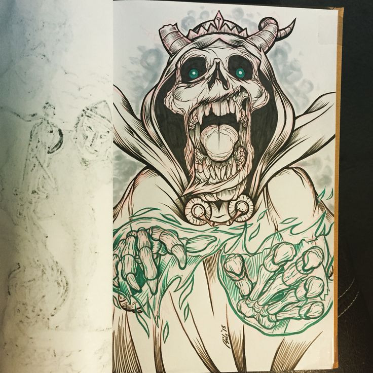Final inks on the Lich sketch