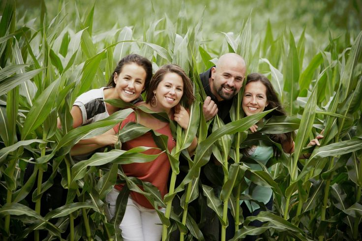 Rae of Light Photography | Family Pictures | Cameron, WI | Family hiding in the corn field