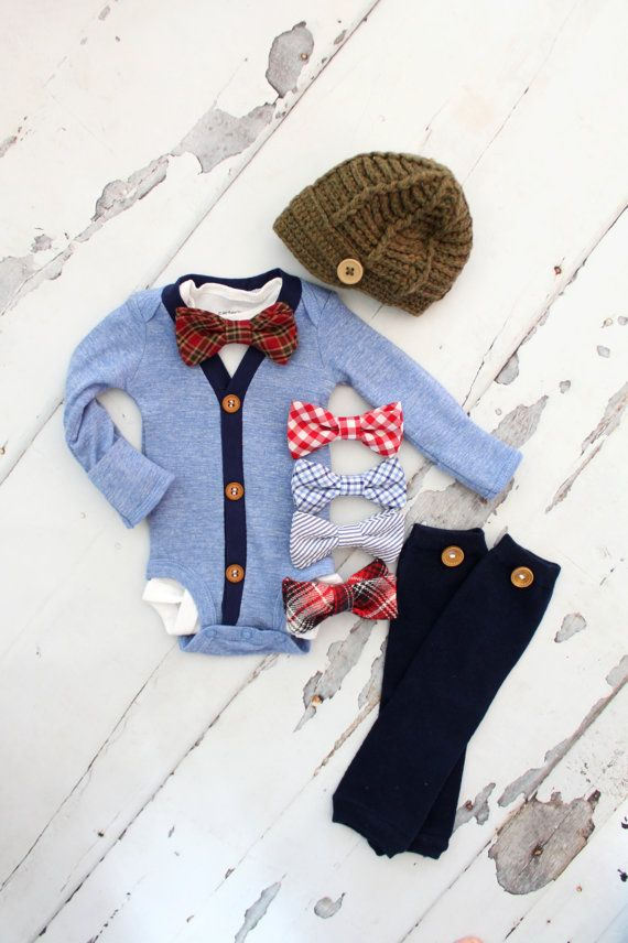 Newborn Baby Boy Coming Home Outfit Set of by ChicCoutureBoutique