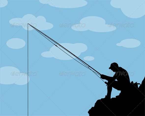 Fisherman Silhouette by artag | GraphicRiver
