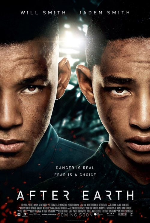 after earth. Not the best movie to me, it had its moments that were cool though.