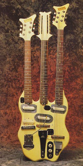 tripleneck: Guitar Multi, Triple Neck Guitar, Tripleneck Guitar, Music Instruments, Kremo Kustom Triple Neck, Kauffmann Kremo Kustom, Guitar Neck, Doc Kauffmann, Electric Guitar