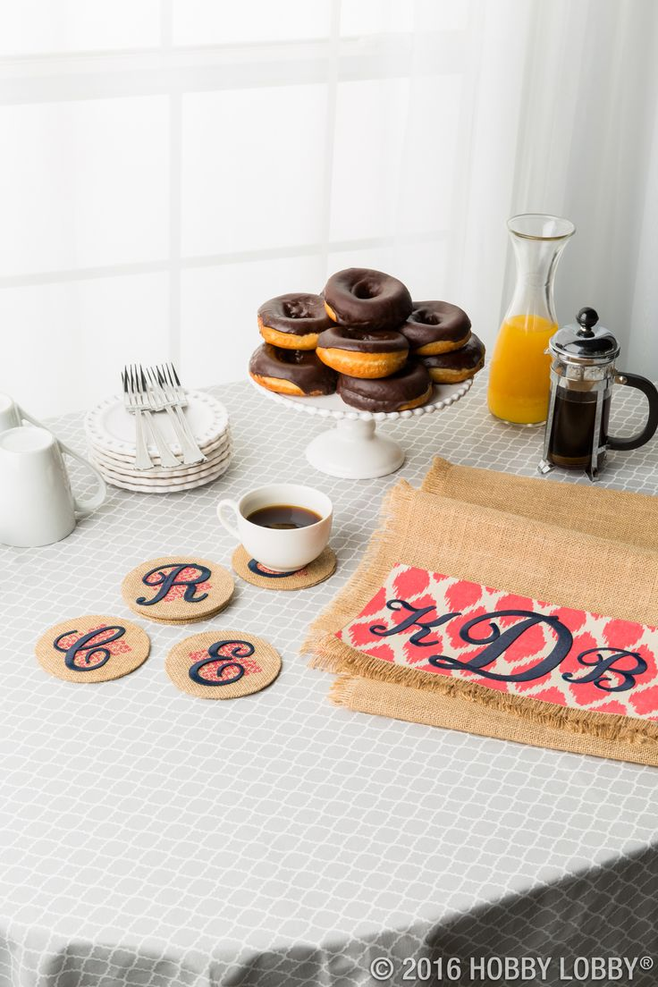 The stuff of everyday life gets a sweet DIY update with iron-on monograms and appliques!