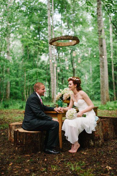 midsummers night dream outdoor woods inspired wedding