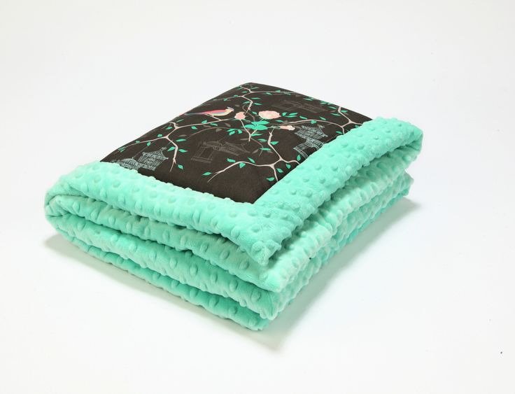 Baby blanket Maggie rose with mint