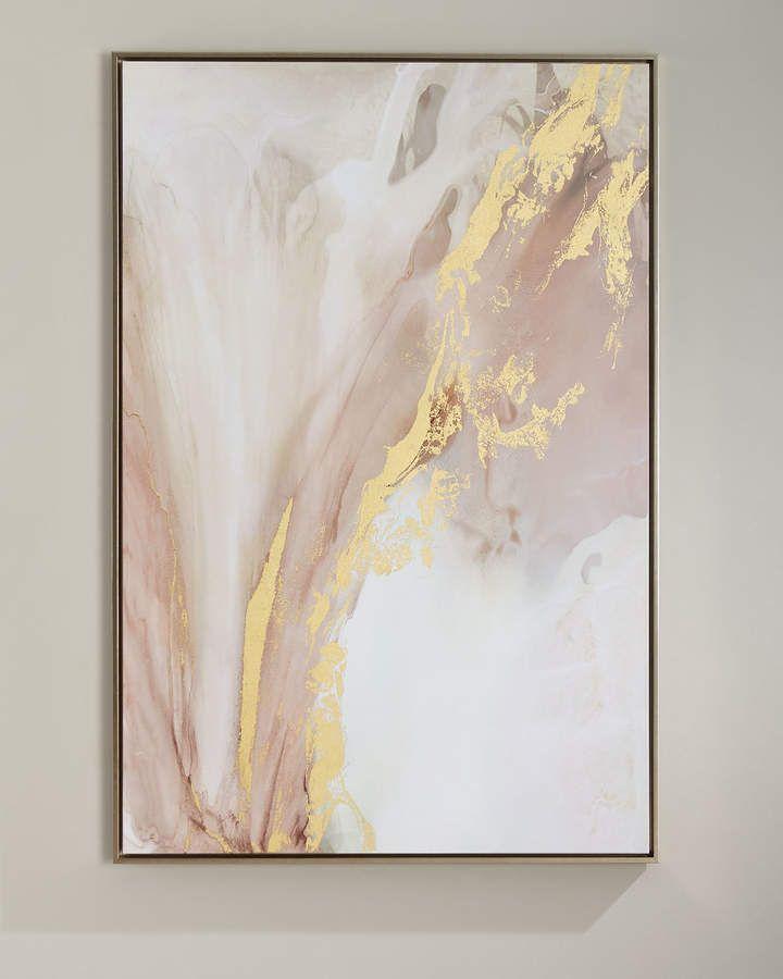 Herz Blüte handgemachte Giclee Wandkunst auf Leinwand  – DIY
