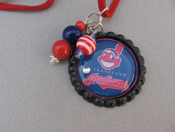 Cleveland Indians Bottlecap Pendant