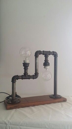Steampunk plumbing pipe lights, duel action.