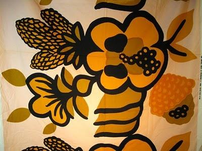 """Vintage Marimekko fabric """"Oona"""" design Maija Isola 1969"""