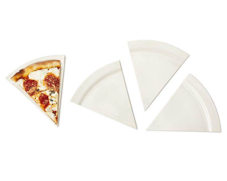 PIZZA PLATES - SET OF 4 | pie plate, ceramic pie plate, deep dish pie plate | UncommonGoods