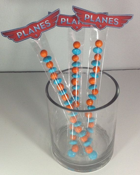 Disney Planes Party Candy Sticks Treats Favors by EpicEvent, $15.00 - A Southern Outdoor Cinema movie snack & food idea for backyard movie night.