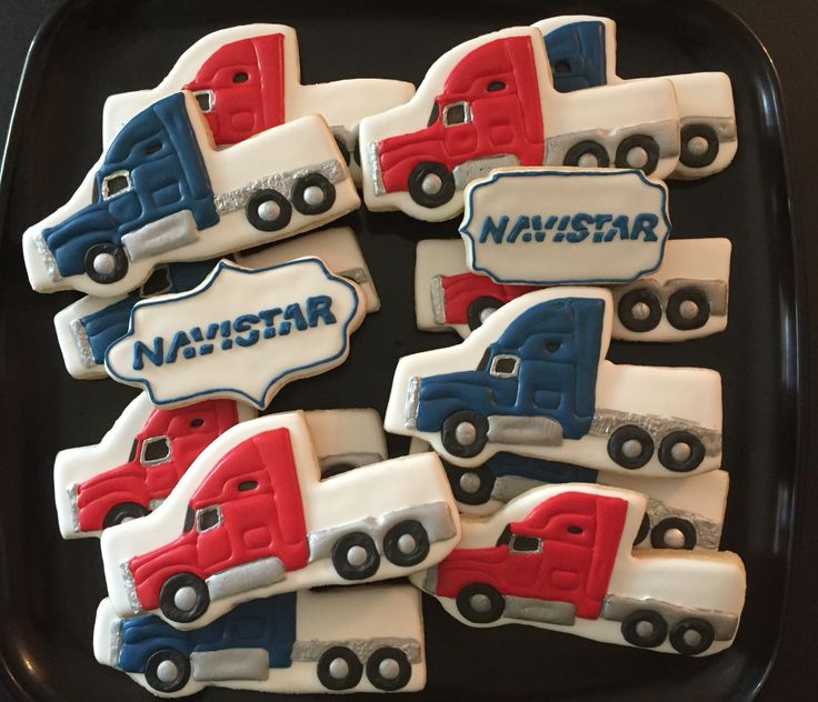 Semi Truck Cookies   #semitrucks #semitruckcookies #18wheelercookies  Please visit my page www.facebook.com/busybeecakery