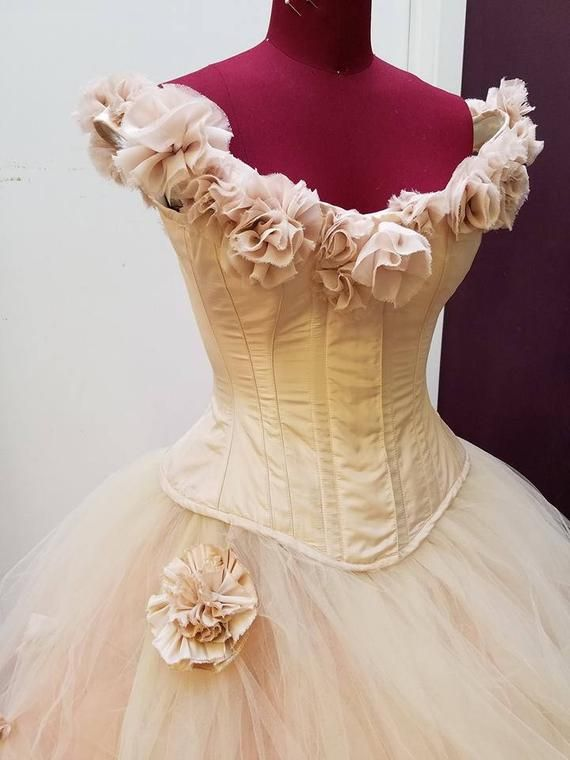 Pink Fairy Wedding Dress Blush Ball Gown Off The Shoulder Unique