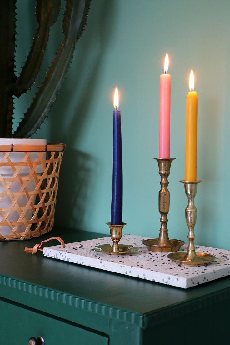 MY ATTIC SHOP / vintage gold candle holders / gouden kandelaar Photography: Marij Hessel www.entermyattic.com