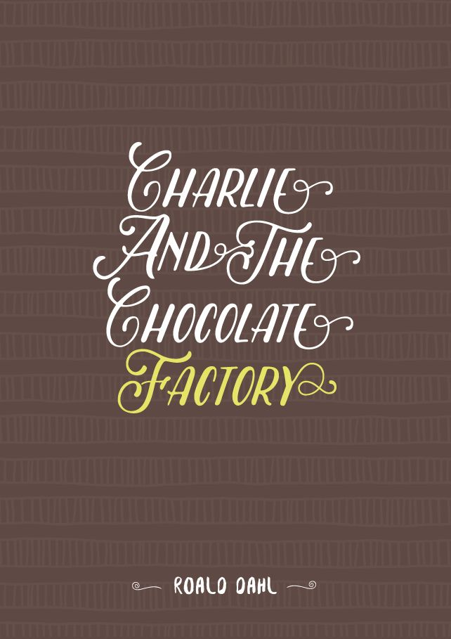 "Give me feedback on ""Charlie and the Chocolate Factory - Book Cover Design"", a work-in-progress on @Behance :: http://be.net/wip/1272383/2221877"