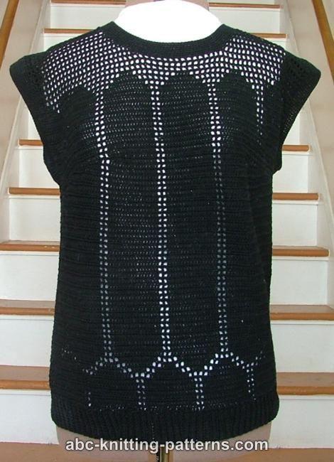 ABC Knitting Patterns - Black Openwork Summer Top