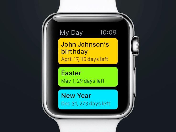 My Day Watch App  by Anna Gerasymenko for Yalantis