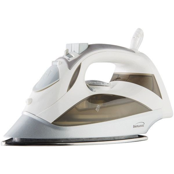 BRENTWOOD MPI-90W Steam Iron with Auto Shutoff (White)
