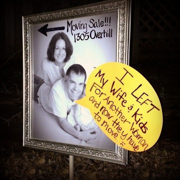 Garage Sale Sign Of The Week Husband Shaming Garage Sale Signs Yard Sale Signs Funny Yard Sale Signs