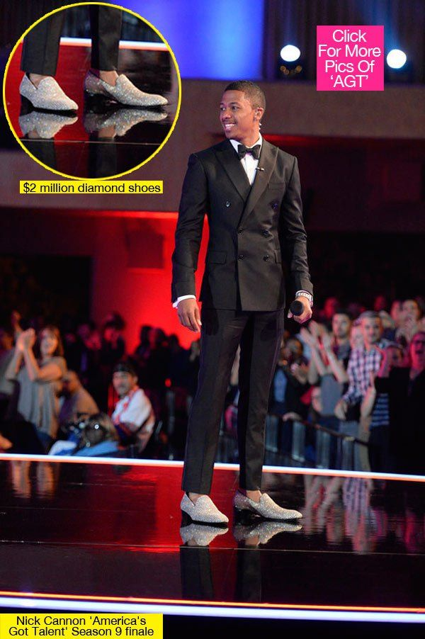 Nick Cannon's Diamond Shoes — $2 Million 'America's Got Talent' Finale Footwear - Hollywood Life