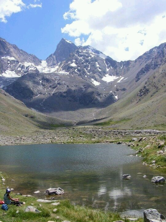 Glaciar El Morado en el Cajón del Maipo, Región Metropolitana.