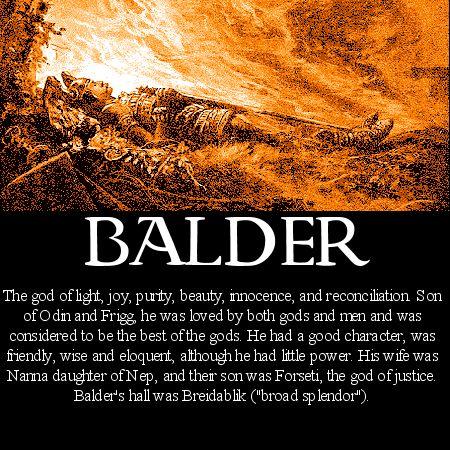 Image Detail for - Norse mythology Balder