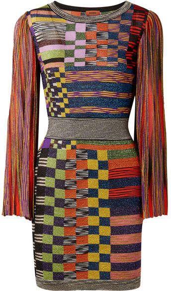 32f92ef1f77c28 Missoni - Metallic Stretch-knit Mini Dress - Orange #missoni #knitdresses  #minidresses #shopstyle