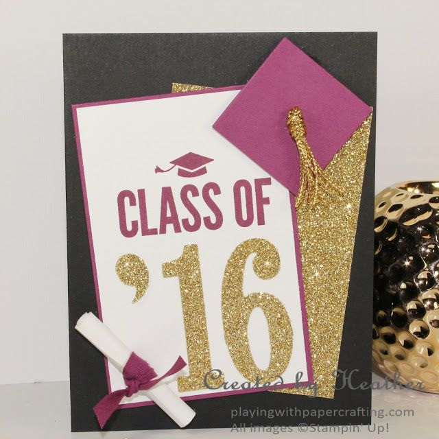 Graduation Card With Large Number Framelits Stamping Ideas