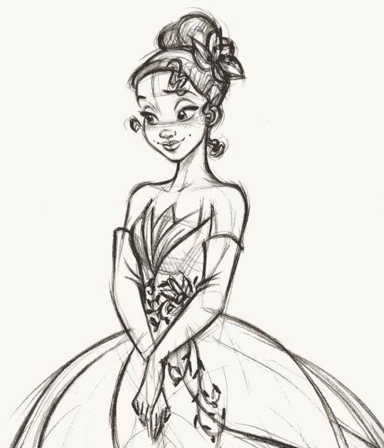 Steve Thompson - Tiana - Disney Fairytale Designer Collection. Rough sketch