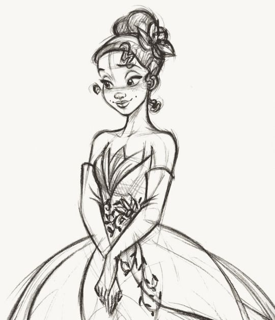 Steve Thompson - Tiana - Disney Fairytale Designer Collection. Rough sketch