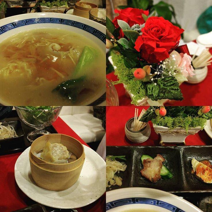 小薇さんのお店ローズ上海トーキョーでフカヒレ麺ランチ これ絶品です スープ飲み干してしまいました #chinesefood #中華料理 #新宿 #御苑前