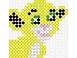 Perler bead panther  (Nala from Lion King, actually)