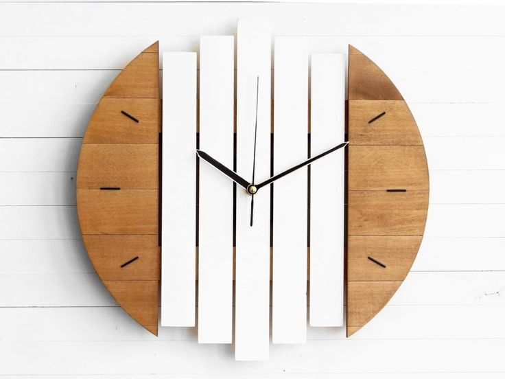 NEW wall clock model - Klorx We keep ourselves busy and new designs are coming along! Combining the rectangular shapes with hemispheres made it look like a Star Wars fighter!