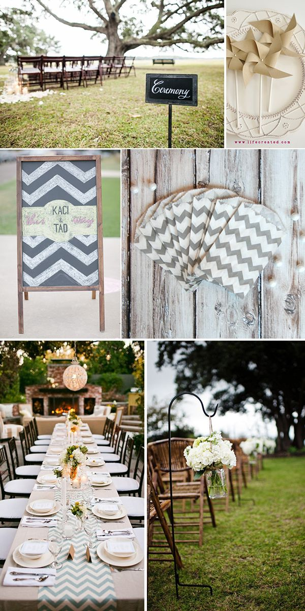 Love the chevron table!! Style Options For a Mint, Yellow, Blue-Gray & Tan Chevron Wedding | Fab You Bliss