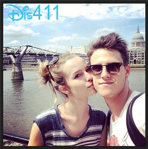 Photo: Bridgit Mendler Gave Shane Harper A Kiss On The Cheek In London June 9, 2014