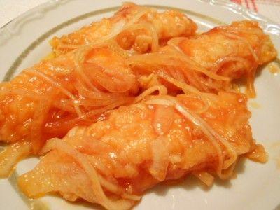 Очень вкусная рыбка В маринаде