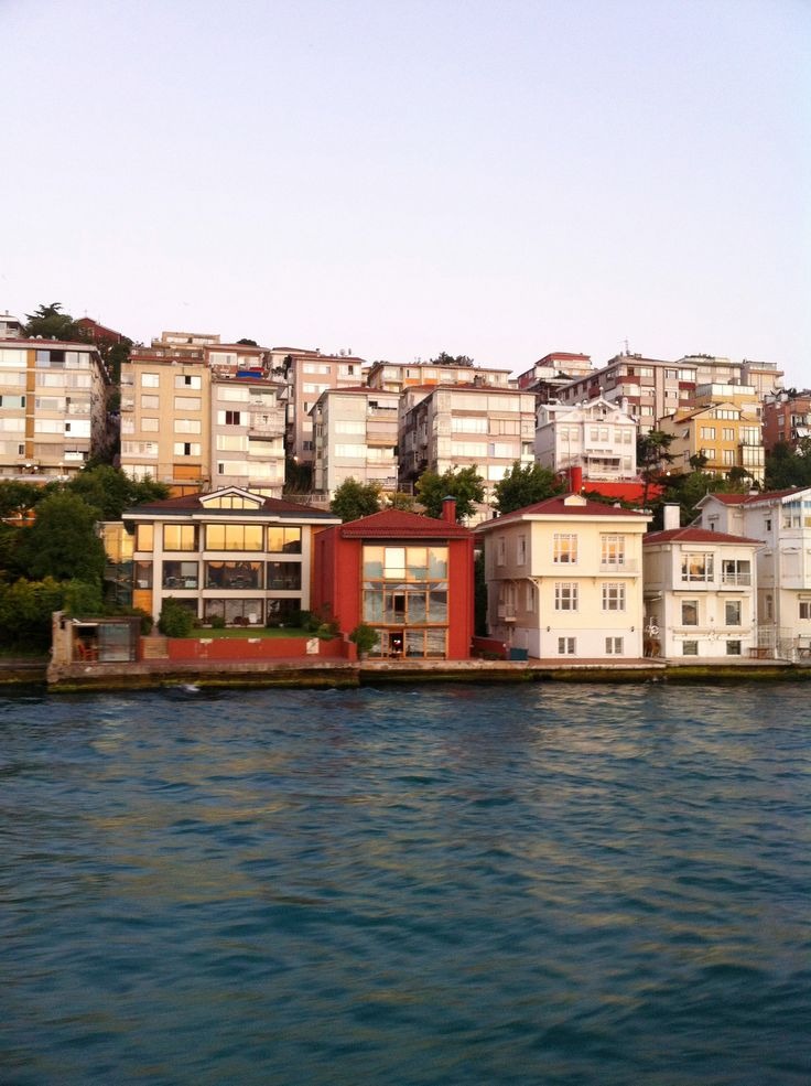 Houses along the Bosporus shore, Istanbul