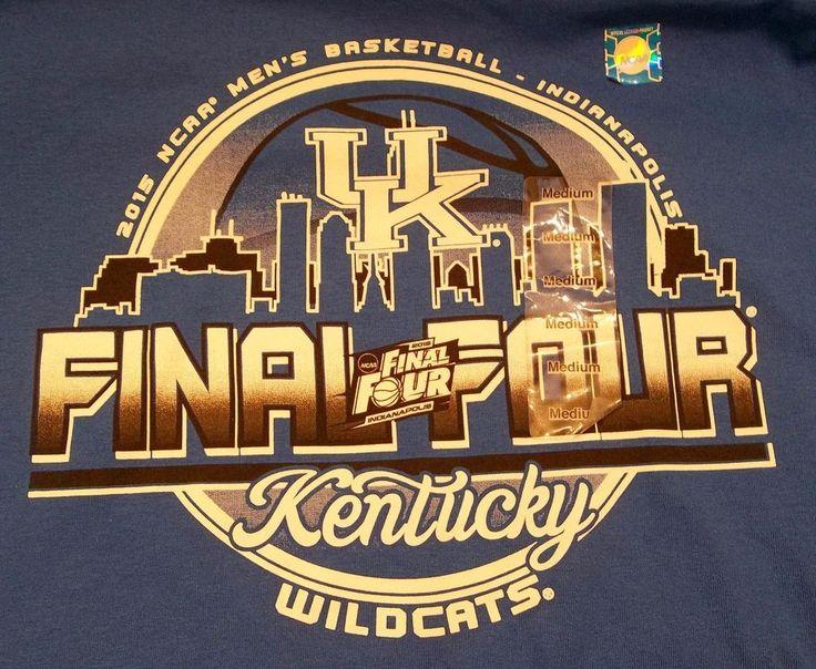 University Of Kentucky 2015 NCAA Men's Basketball Final Four T-Shirt M Medium #Blue84 #KentuckyWildcats