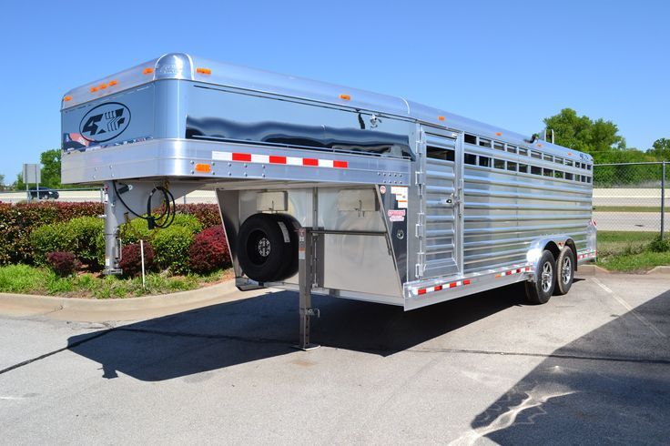 4-Star Stock Trailer with Stainless Steel and Polished Aluminum. WOW!!  4-Star Trailers, Stock Trailers, Show Cattle