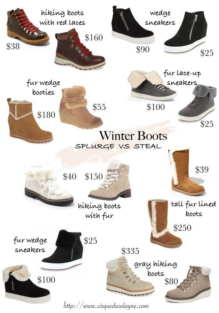 Splurge vs Steal: Winter Boots - Cirque
