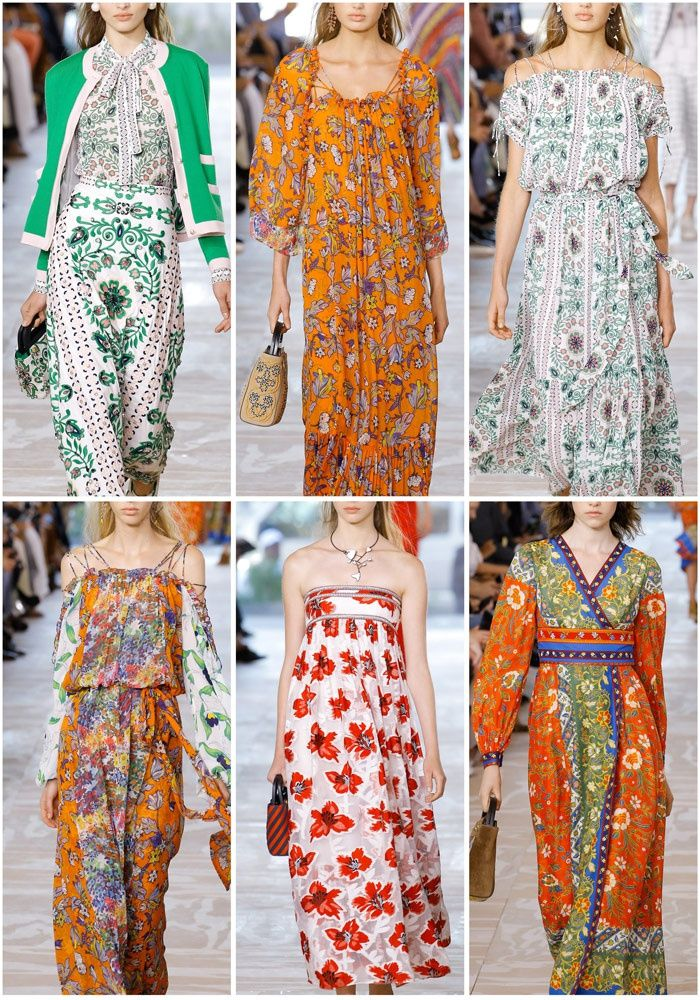 Patternbank are loving the Indian folk inspired patterns and nautical statements in this NYFW designer highlight from Tory Burch's Spring Collection.