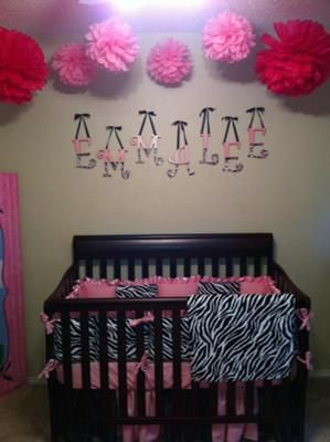 Pink Zebra Baby Nursery: My inspiration for my baby's nursery came from my love for bright contrasting colors and the fact that I thought my daughter would love them too. I used