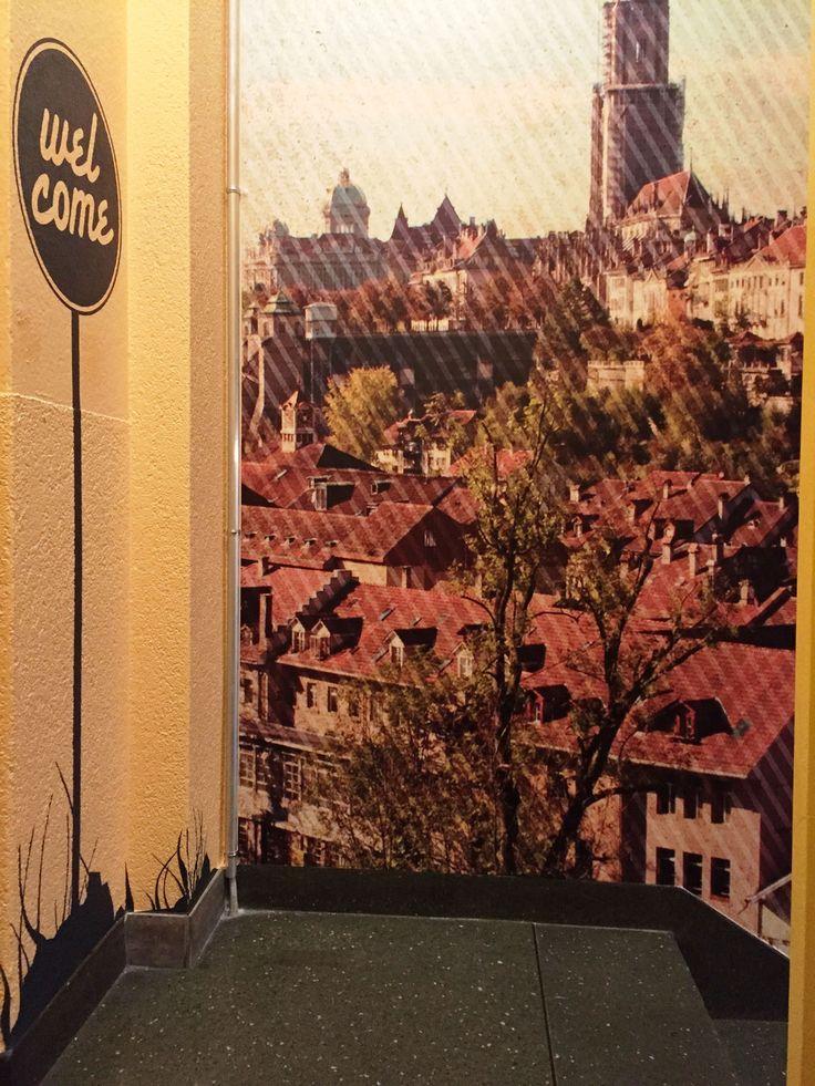 Gestaltung Treppenhaus und Eingangsbereich, Hotel Backpacker Glocke, Bern