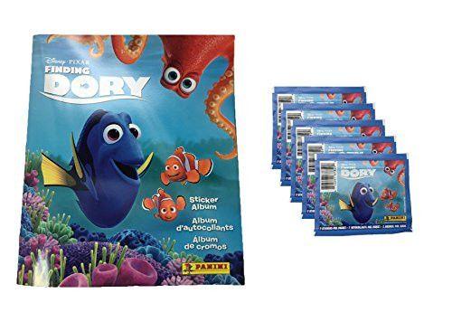 Panini Disney Pixar Finding Dory Sticker Album PLUS 5 Sticker Packs
