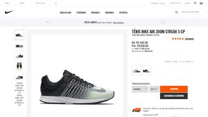 [Nike Brasil] Tênis Nike Air Zoom Streak 5 CP _ Branco - COD. 818969107 - de R$ 449,00 por R$ 359,90 (19% de desconto)