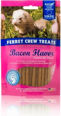 SMALL ANIMAL - CHEWS & TREATS - FERRET CHEW TREAT BACON - USA - 1.87 OZ - NATURAL POLYMER - UPC: 657546111235 - DEPT: SMALL ANIMAL PRODUCTS