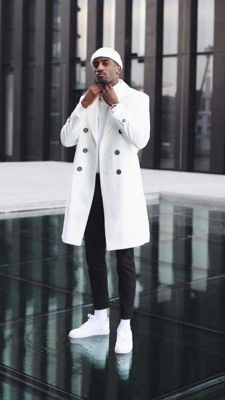 50 Stylish Ways to Wear a Pea Coat for Men. White long peacoat ... e95f6919c