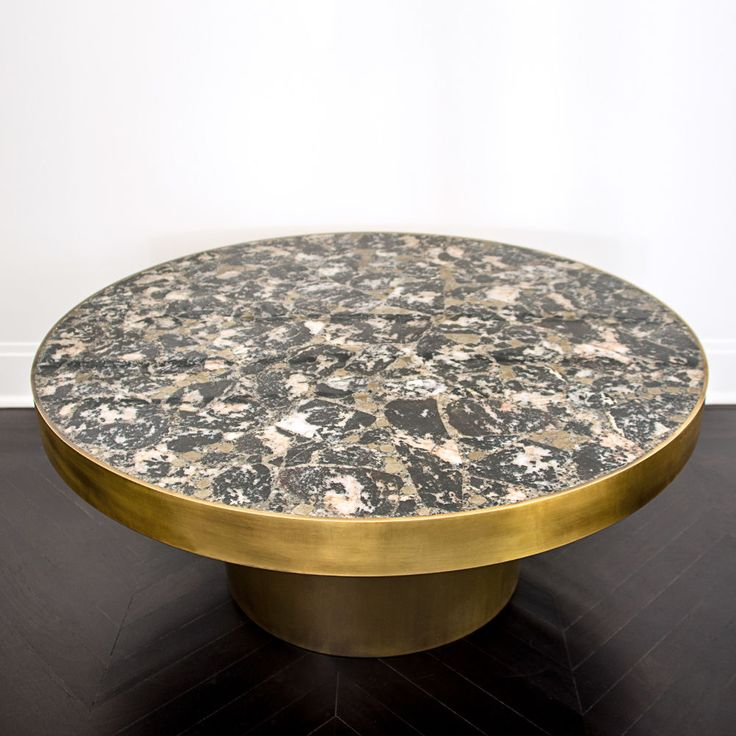 KELLY WEARSTLER | SEDONA COFFEE TABLE. Burnished Bronze Frame With Inlaid  Tableu2026
