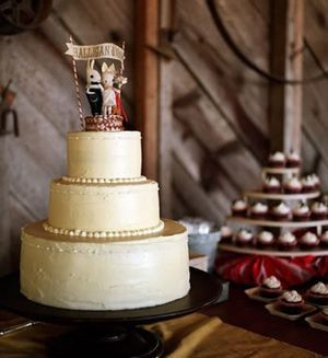 人形を使ってオリジナルケーキに♡キュートな結婚式のウェディングケーキまとめ一覧♡