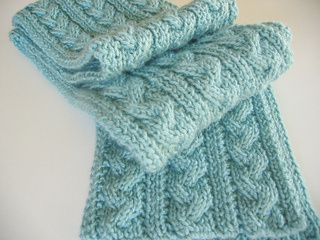 Braid Cable Reversible Hiking Scarf free knitting pattern - 10 Free Knitted S...